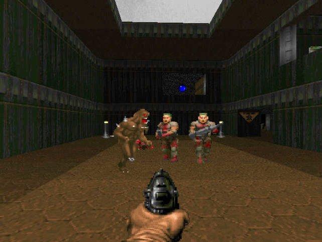 Mit Pistole, Kettensäge und anderen Waffen stellt ihr euch Dämonen und Zombies.