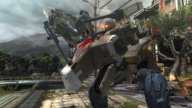 Das Spiel kombiniert blutige Schwertkämpfe mit düsterem Zukunftsszenario.