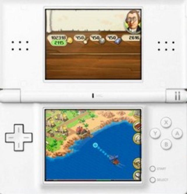 Der Touchpen wird sehr gut eingesetzt, Schiffe lassen sich so problemlos über die Karte bewegen