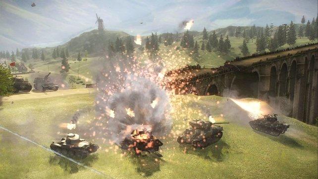 Artilleriefeuer kann auch dem schwersten Panzer zusetzen.
