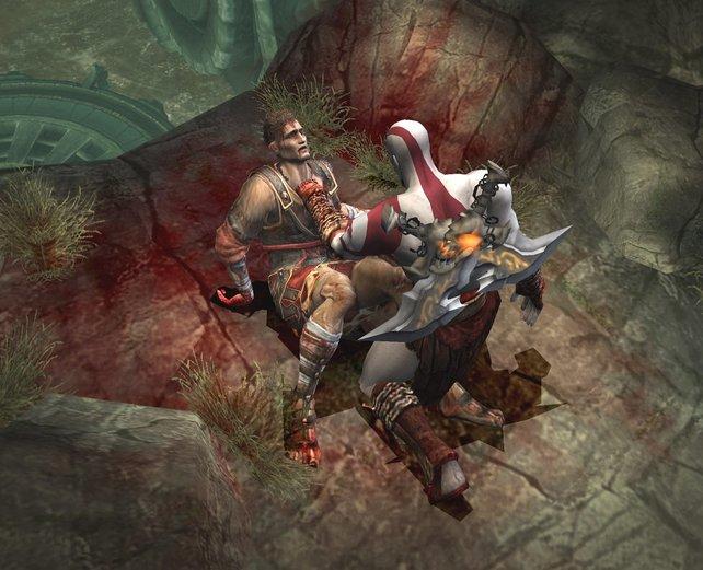 Kratos langt kräftig zu