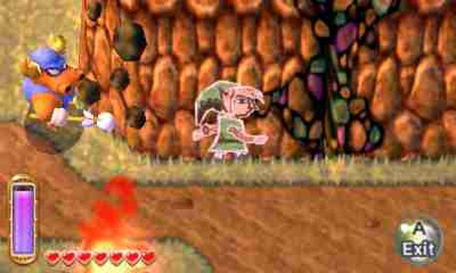 Wie eine animierte Kreidezeichnung erkundet Link die Welt in der zweiten Dimension.