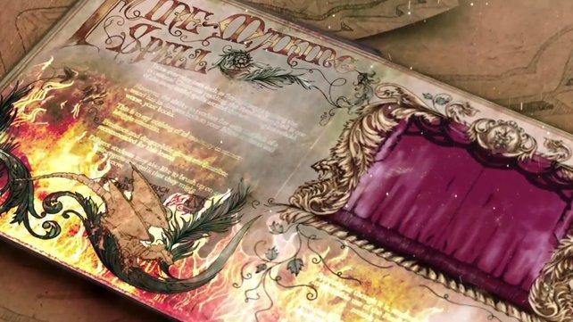 Im Spiel erstrahlt das Buch in feiner Pergament-Optik.