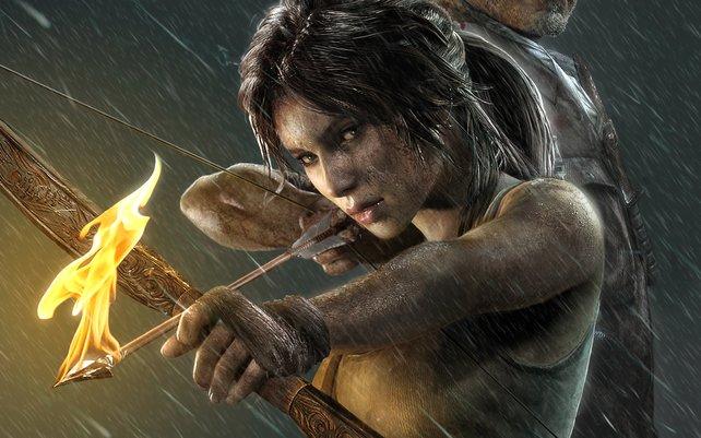 Lara Croft am Beginn ihrer Karriere als Videospiel-Heldin.