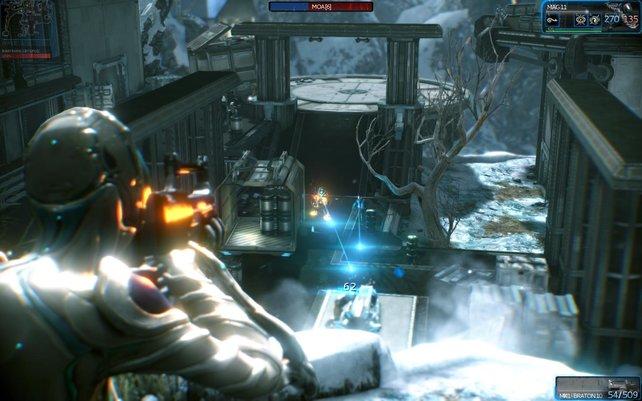 In dieser Mission sollt ihr die Kapsel in der Mitte verteidigen. Abwechslung dieser Art gibt's aber nur selten.