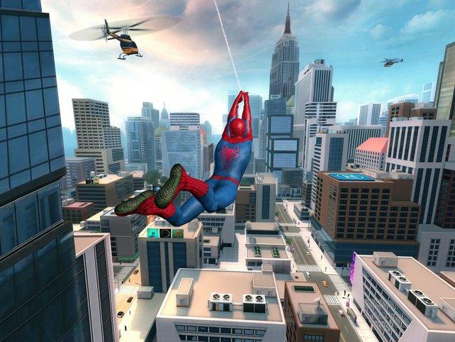 Wie gewohnt schwingt sich der Spinnenmann durch Manhattan und macht Verbrecher dingfest.