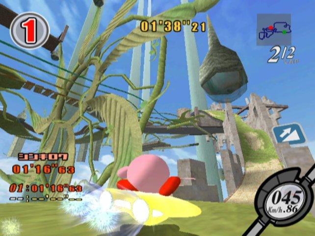 Kirby Air Ride ist zwar das einzige echte 3D-Kirbyspiel, aber trotzdem nur ein lahmer Abklatsch von Mario Kart.