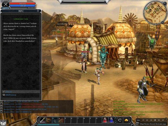 Motivierend: Das gesamte Spiel über gibt's von den Auftraggebern spannende Quests.