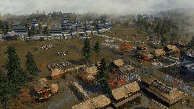 Riesige Verbände von 4000 Soldaten wollen kontrolliert werden. Bbesser mal pausieren und in Ruhe Kommandos verteilen.