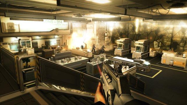 Die Puristen greifen Sarif Industries an. Adam Jensen stellt sich ihnen.