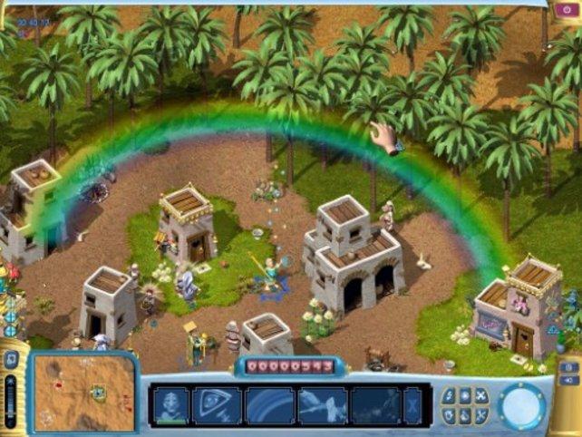 Mit einem Regenbogen beeindruckt Taufliab die Bewohner
