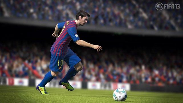 Weltfußballer Lionel Messi ist das Aushängeschild von FIFA 13.