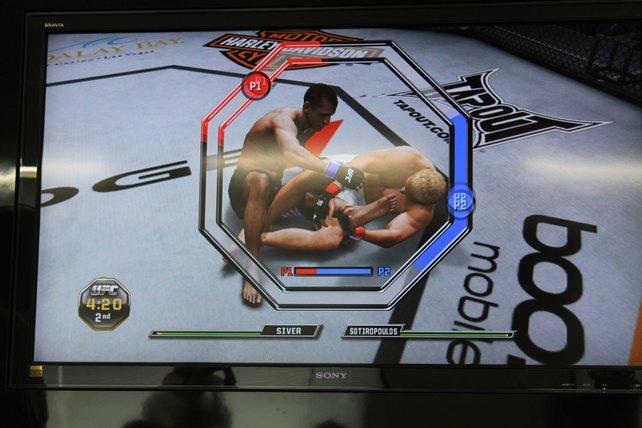 Während eines Submissionsgriffs messen sich die Spieler in einer Art Minispiel.