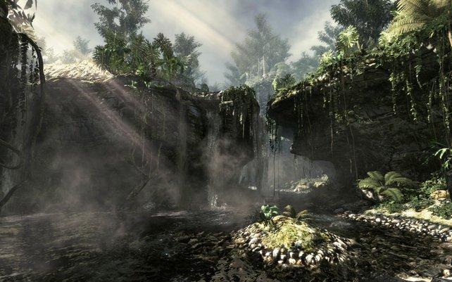 Vor allem in der Wildnis kann die neue Grafiktechnik mit Lichteinfall und rauen Oberflächen punkten.