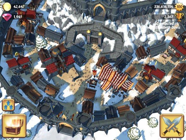Innerhalb der vorgegebenen Burgmauern errichtet ihr Spezialgebäude.
