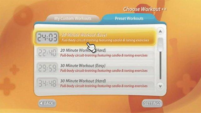Ihr könnt euch auch ein eigenes Trainingsprogramm zusammenstellen.