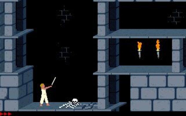 So findet im ersten Teil der damals noch blonde Prinz sein Schwert.