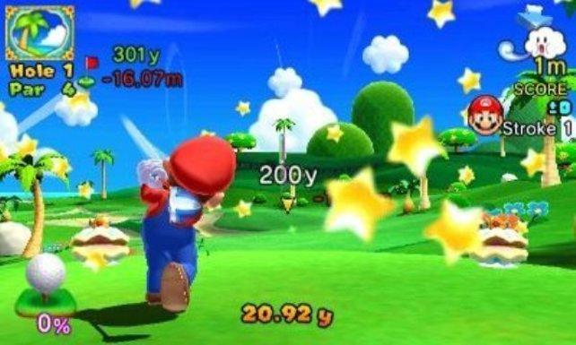 Für jeweils 5,99 € dürft ihr euch drei Download-Pakete gönnen. Diese bestehen aus je einer neuen Spielfigur und zwei Golfplätzen aus Mario Golf für N64.