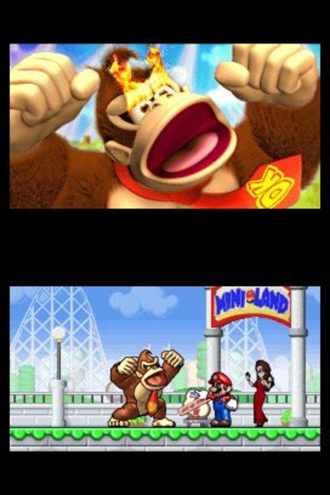 Donkey Kong hat Pech: Als 101. Kunde bekommt er keine Pauline-Aufziehfigur.