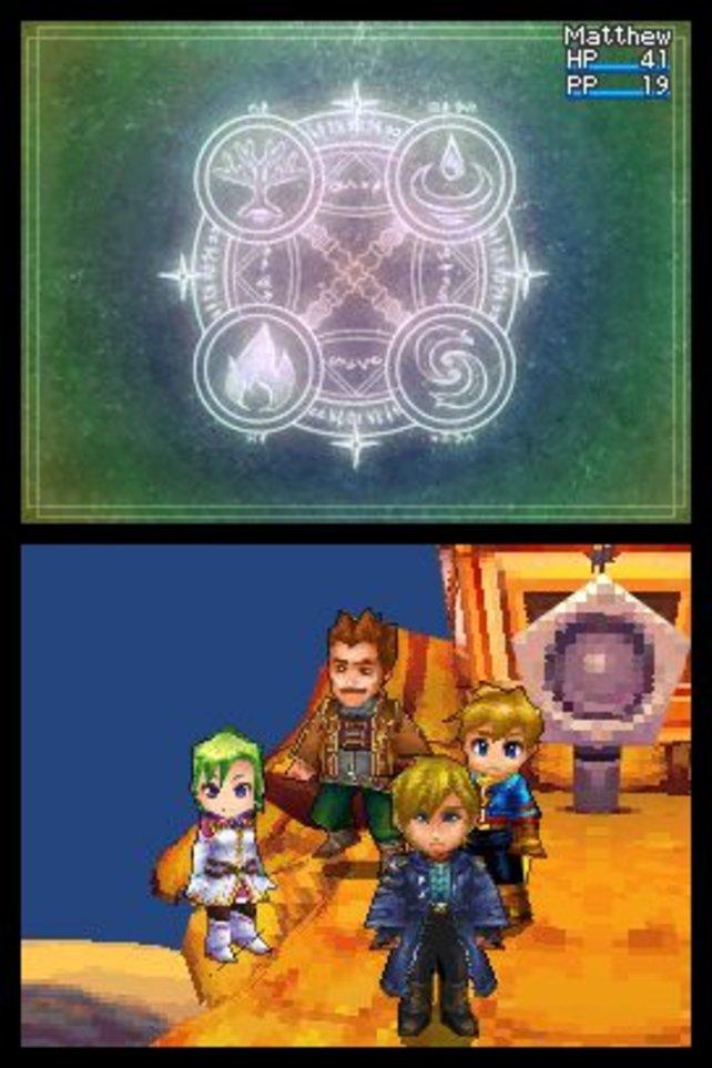 Isaac, der Held des Originalspiels, überträgt seinem Sohn Matthew (hinten rechts) die Aufgabe des Weltenretters.