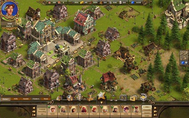 So prunkvoll kann euer Rathaus im späteren Spielverlauf aussehen.