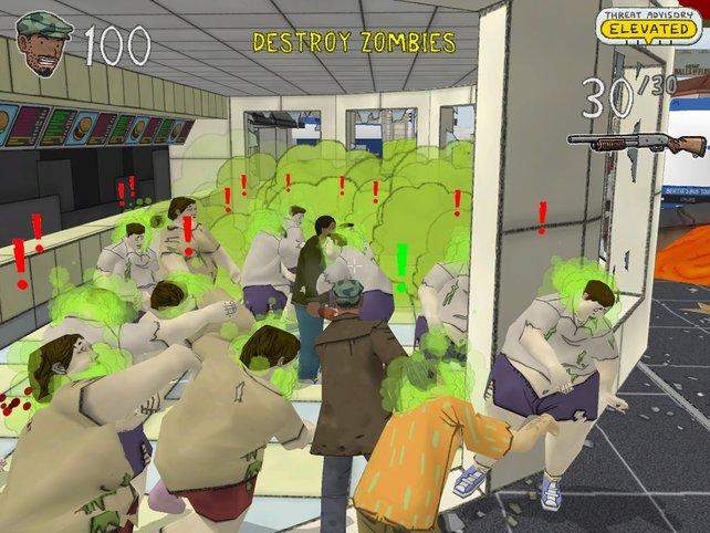 Die Stadt ist nun von Zombies bevölkert.