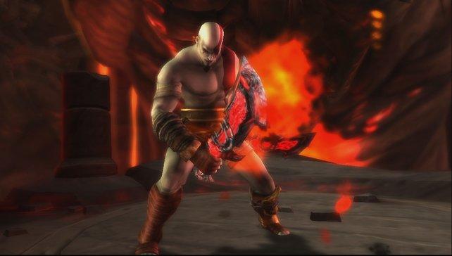 Kriegsgott Kratos mit Athenes Klingen.