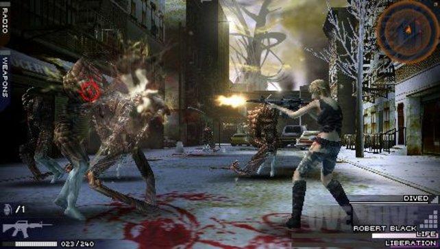 Per Overdive springt Aya an ein gegnerisches Monster heran und lässt das Sturmgewehr sprechen.