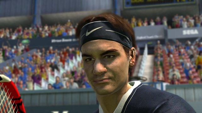 Roger Federer im Portrait.