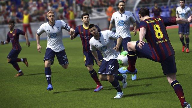 Fifa 14 überzeugt mit Detailverbesserungen bei der Ballkontrolle.