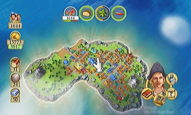 Wenn ihr einen besseren Überblick über eure Insel wollt, zoomt ihr einfach mit der Minus-Taste weit heraus.
