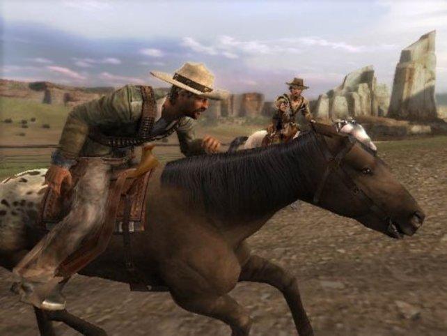 Ein Duell auf dem Pferd