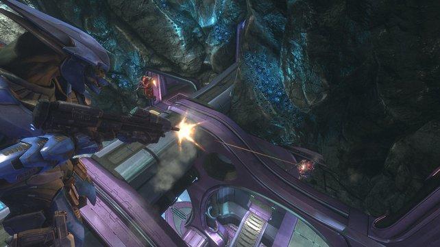 Die außerirdische Allianz duldet keine Menschen auf Halo.