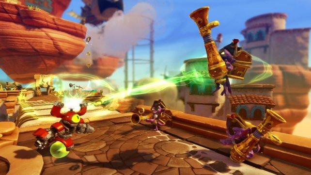 Erstmals können Charaktere springen, was eine neue Levelarchitektur ermöglicht.