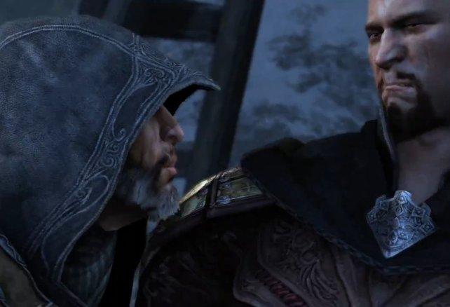 Ezio hat mit Templer Leandros noch ein Hühnchen zu rupfen.