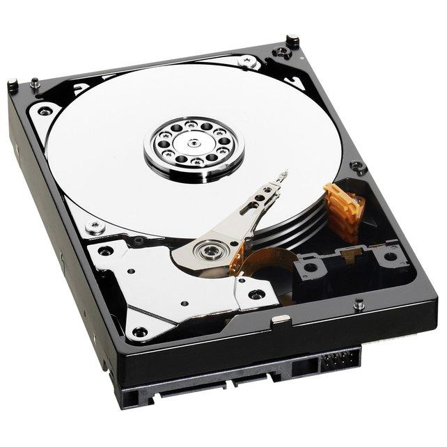 So sieht eine handelsübliche Festplatte von innen aus. Alte Menschen und DJs erinnern sich an Plattenspieler.