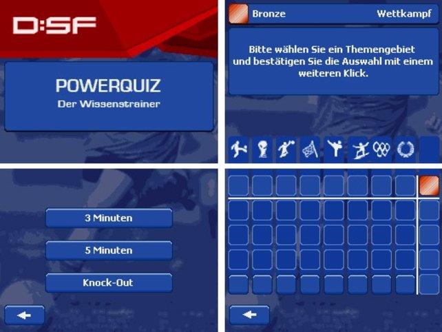 Das rechte Bild zeigt das Hauptmenü des Wettkampfmodus' und links seht ihr den Auswahlbildschirm der Freistil Variante.