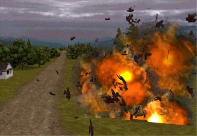 Eine gewaltige Explosion