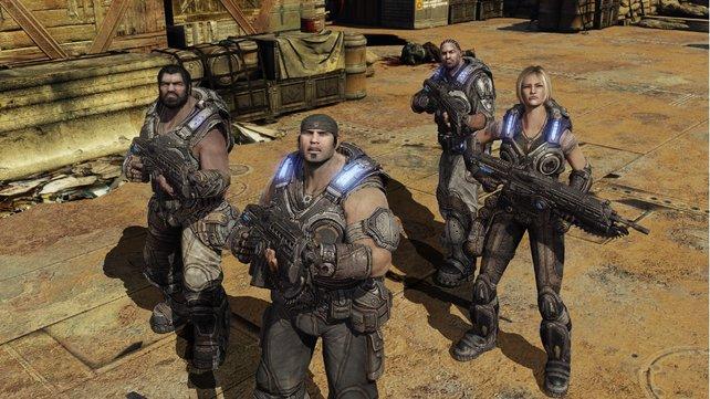 Natürlich mit dabei: Gears of War 3.