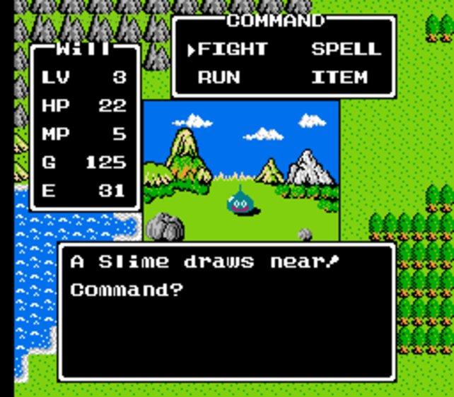 In Dragon Quest standen sich Held und Schleim noch feindlich gegenüber.