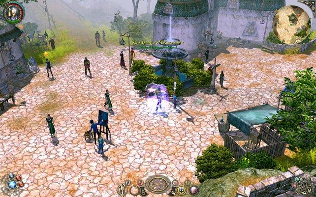 In Städten besucht der Held die Händler und bekommt neue Quests.