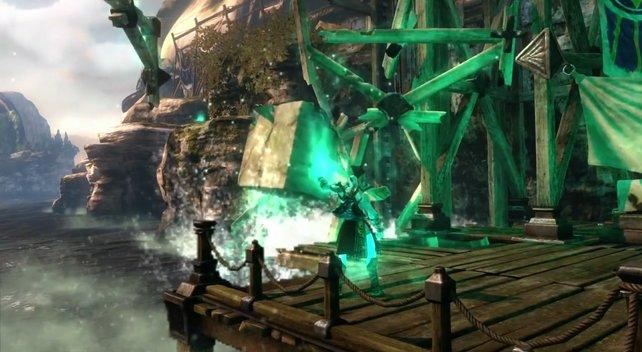 Hier manipuliert Kratos die Zeit.