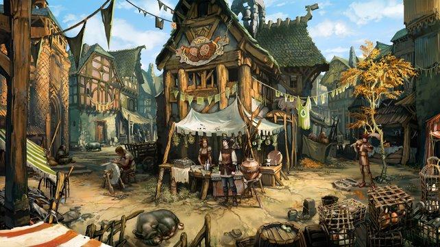 Die Stadt Andergast ist für seine architektonische Rückständigkeit bekannt.
