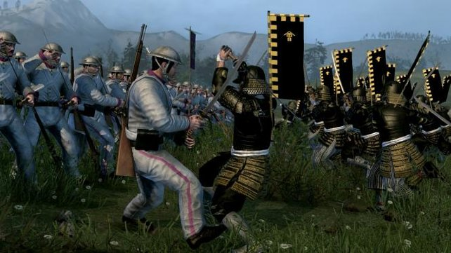 In Total War: Fall of the Samurai treffen die traditionellen Samurai auf das moderne Japan.
