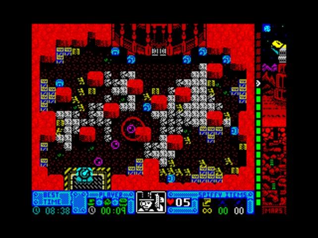 Die Grafik wirkt wie auf einem ZX Spectrum.