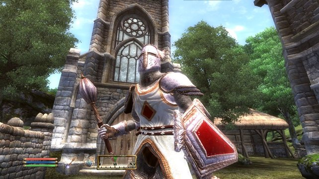 Auch Oblivion setzt damals grafische Maßstäbe. Nicht zuletzt dank schicker Lichteffekte. Ja, schick!