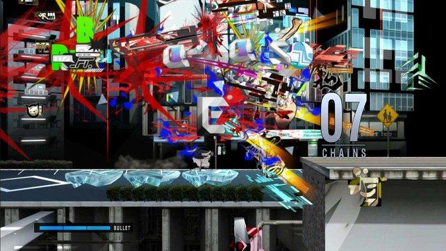 Das ist kein Grafikfehler, sondern eine ganz normale Spielszene aus Ranko Tsukigime's Longest Day.