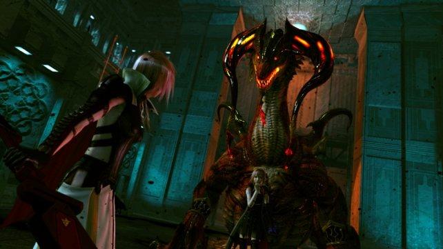 Lumina hetzt ein Monster auf Lightning.