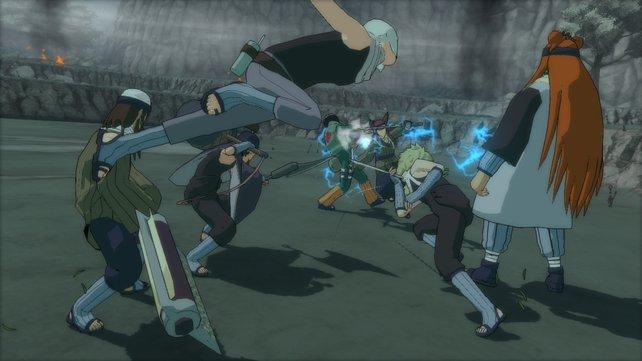 Unter den neuen Charakteren sind auch die von Kabuto wiederbelebten Ninjas.
