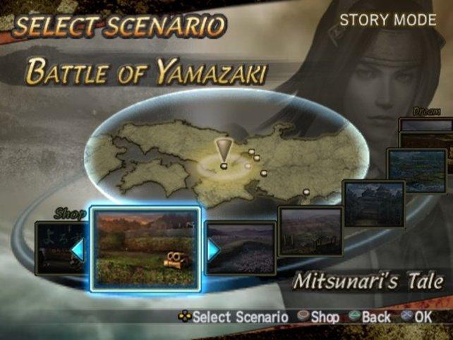 """So sieht die Missionsauswahl im neuesten """"Samurai Warriors"""" aus"""